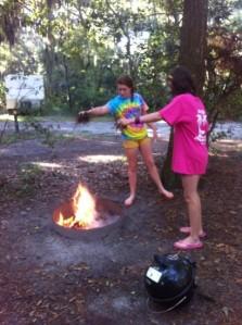Last camp fire - Jekyll Island 2013