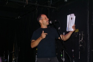 A.C. PAPA Editor-In-Chief Chris Bodor spreading the message of poetry and spoken word.