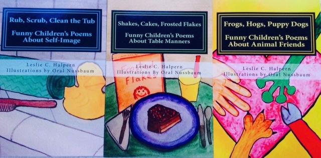 Cover shots of Leslie C. Halpern's books